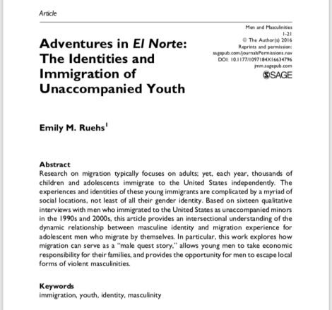 Adventures in El Norte: The Identities and Immigration of Unaccompanied Youth